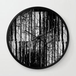 Forest Winter Pattern Wall Clock