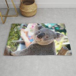Super Cute Little Grown Koala Bear Looking At Camera Close Up Ultra HD Rug
