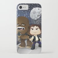 han solo iPhone & iPod Cases featuring Han Solo & Chewbacca by 7pk2 online