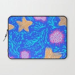 Seaweed & Starfish deep blue teal Laptop Sleeve