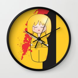 Kokeshi Beatrix of Kill Bill Wall Clock