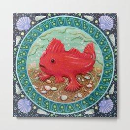 Endangered species: Red Handfish Metal Print