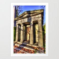 Kensal Green Mausoleum Art Print