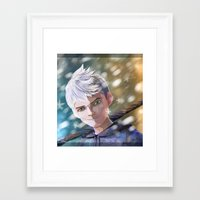jack frost Framed Art Prints featuring Jack Frost by Elisehill3