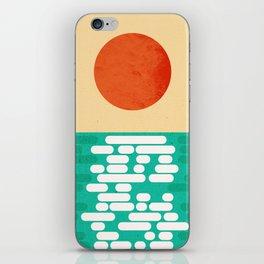 Sun over the sea iPhone Skin