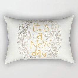 It's A New Day Rectangular Pillow