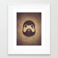 playstation Framed Art Prints featuring The Gamer by powerpig