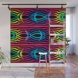 Rainbow Fishes Wall Mural