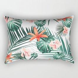 Tropical Flowers & Leaves Paradise #2 #tropical #decor #art #society6 Rectangular Pillow