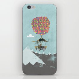 Riding A Bicycle Through The Mountains iPhone Skin