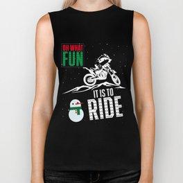 Dirt Bike T-Shirt Oh What Fun Christmas Motocross Gift Tee Biker Tank