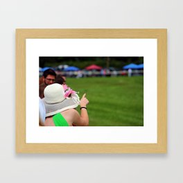Off to the races Framed Art Print