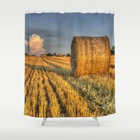 farm Shower Curtains featuring The Farm by David Pyatt