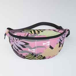 Striped maple leaf Fanny Pack