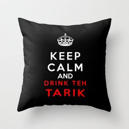 Keep Calm & Drink Teh Tarik Throw Pillow