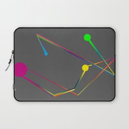 Lines and circles Laptop Sleeve