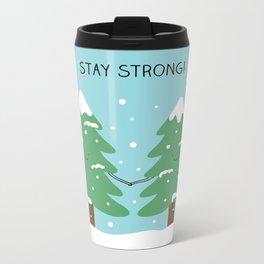 love keeps us strong Metal Travel Mug