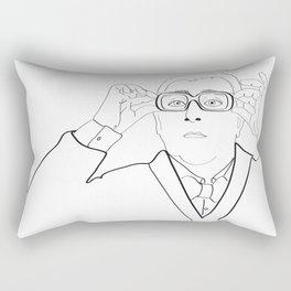 Alber Elbaz portrait Rectangular Pillow