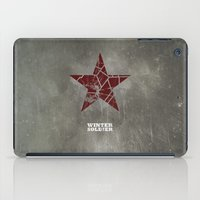 the winter soldier iPad Cases featuring Codename Winter Soldier by Bonnie Detwiller