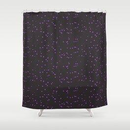Violet Dark Brown Shambolic Bubbles Shower Curtain