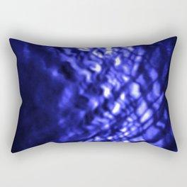 Blue ripple Rectangular Pillow