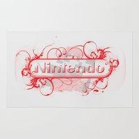 nintendo Area & Throw Rugs featuring Urban Nintendo by Donkey Inferno