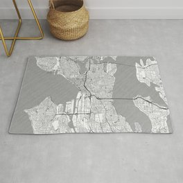 Seattle Map Line Rug