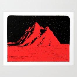 Pico rosso Art Print