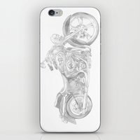 motorcycle iPhone & iPod Skins featuring Motorcycle by Maria Archilla