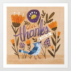 Give Thanks Every Day Art Print