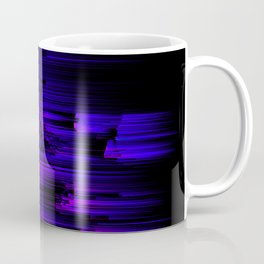 Ultraviolet Light Speed - Abstract Glitch Pixel Art Coffee Mug