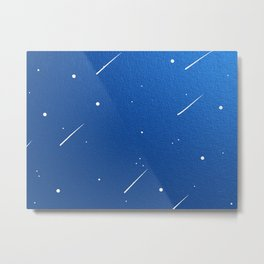 Shooting Stars in a Clear Blue Sky Metal Print