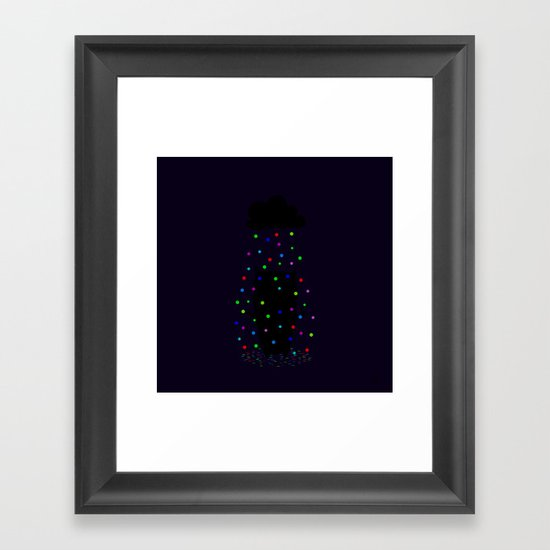 The Happy Rain Framed Art Print