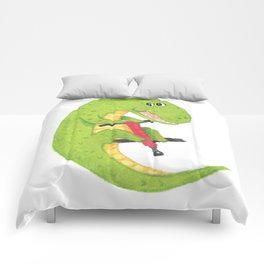 Red and Green Pogo Croc Comforters