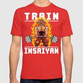 TRAIN INSAIYAN (Goku Deadlift) T-shirt