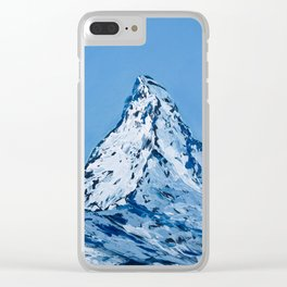Matterhorn. Zermatt. Winter afternoon Clear iPhone Case