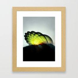 Sci fi Sunset Framed Art Print