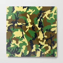 Camouflage - Woodland Pattern Metal Print