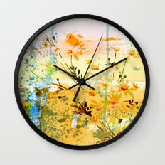 flowers at the beach Wall Clock