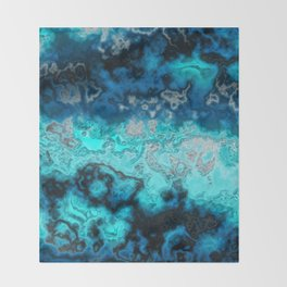 Blue Agate Throw Blanket