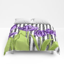 Striped Tulips Comforters