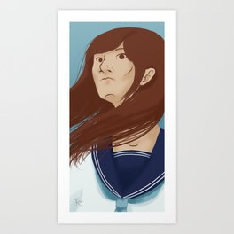 Serafuku Girl Art Print