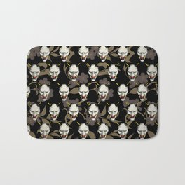 Japanese Ghost Mask Pattern  Bath Mat