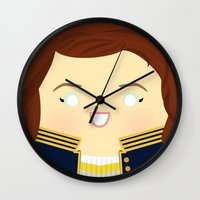 writer Wall Clocks featuring The Song Writer by discojellyfish