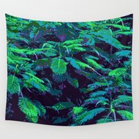 fabric Wall Tapestries featuring Tropical Fabric by Glenn Designs