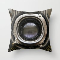 photographer Throw Pillows featuring photographer by Da Axw