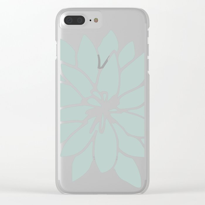 Flower Forest Fern Green on White Clear iPhone Case