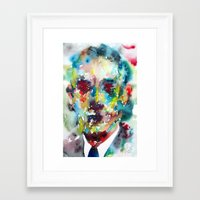 lovecraft Framed Art Prints featuring LOVECRAFT by LAUTIR
