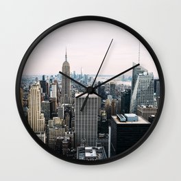 New York skyline from Top of the Rock Wall Clock