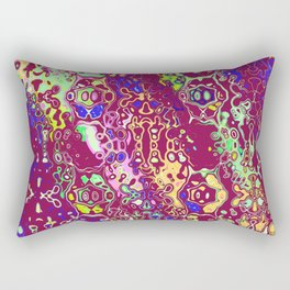 Shapes on a purple background Rectangular Pillow